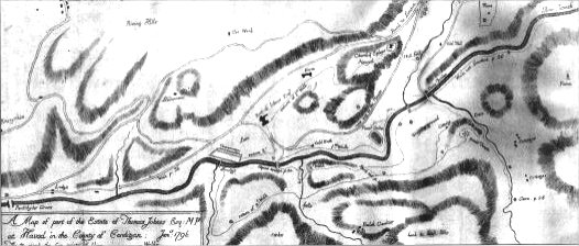 Cumberland map of Hafod 1796