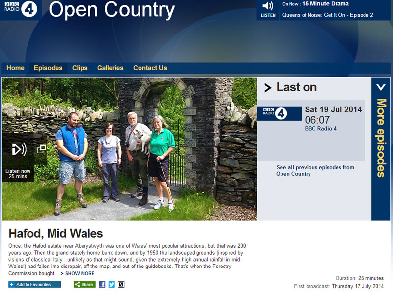 Open Country broadcast on Radio 4